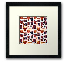 gifts, box, bow, tape Framed Print
