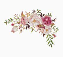Romantic Watercolor Flower Bouquet Kids Tee