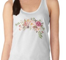 Romantic Watercolor Flower Bouquet Women's Tank Top