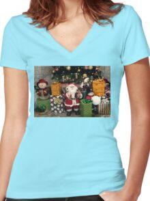 Ho Ho Ho ~ Christmas Fun! Women's Fitted V-Neck T-Shirt