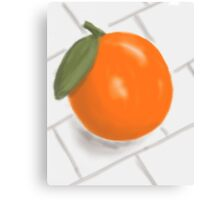Still Life with Orange and Tiles Canvas Print