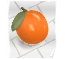 Still Life with Orange and Tiles Poster