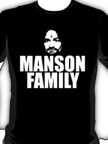 Charles Manson - Manson Family - black / white T-Shirt