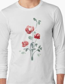 flowers. roses. flower happiness Long Sleeve T-Shirt