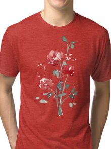 flowers. roses. flower happiness Tri-blend T-Shirt