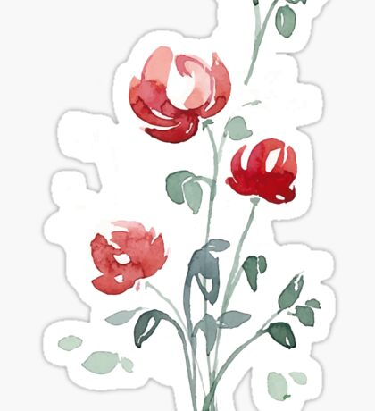 flowers. roses. flower happiness Sticker