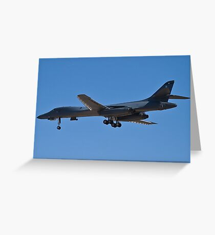 Rear shot of the B1-B Lancer Bomber Greeting Card
