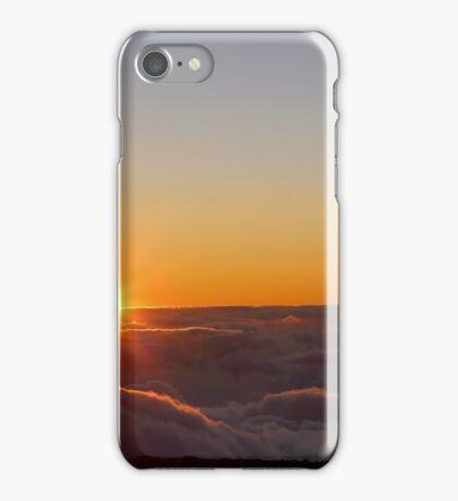 Sunset on the top of Haleakala volcano iPhone Case/Skin