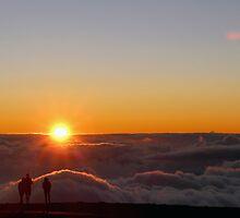 Sunset on the top of Haleakala volcano by VikaL