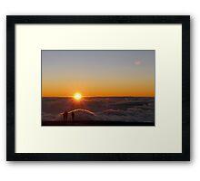 Sunset on the top of Haleakala volcano Framed Print