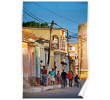 Trinidad Street Scene Poster