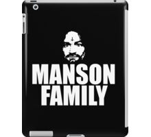 Charles Manson - Manson Family - black / white iPad Case/Skin
