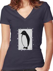 Penguin Superstar Women's Fitted V-Neck T-Shirt