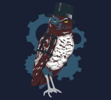 Steampunk Owl Kids Tee