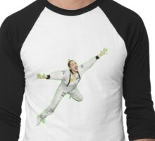 Miley Cyrus Flying !  Men's Baseball ¾ T-Shirt