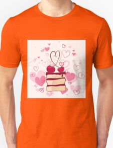piece of cake with cherries Unisex T-Shirt