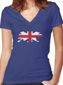 British Bear Women's Fitted V-Neck T-Shirt
