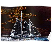 Sailing ship abstract photography Poster