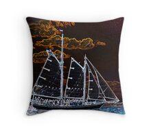 Sailing ship abstract photography Throw Pillow