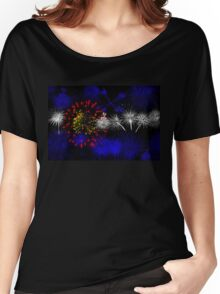 Colorado Firework Flag Women's Relaxed Fit T-Shirt