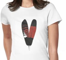 Red-Tailed Black Cockatoo Feathers Womens Fitted T-Shirt