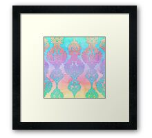 The Ups and Downs of Rainbow Doodles Framed Print