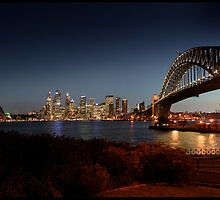 AA001 Circular Quay from Kirribilli at Night by sydneyphotoart