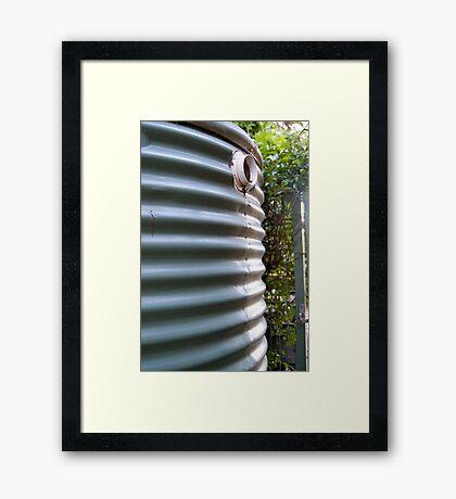 rainwater tank Framed Print