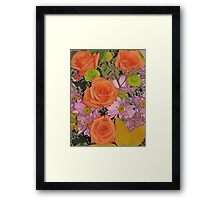 Beautiful Flowers from a Beautiful Friend Framed Print