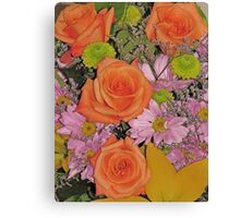 Beautiful Flowers from a Beautiful Friend Canvas Print