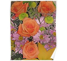 Beautiful Flowers from a Beautiful Friend Poster