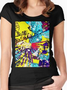 Abstract Multicolor Background Women's Fitted Scoop T-Shirt