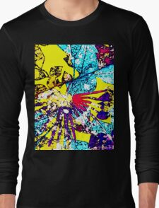 Abstract Multicolor Background Long Sleeve T-Shirt