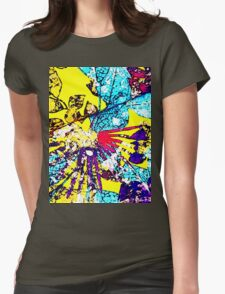 Abstract Multicolor Background Womens Fitted T-Shirt