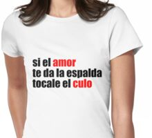 El amor Womens Fitted T-Shirt