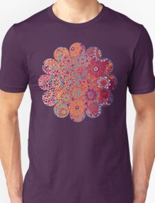Psychedelic Ombre Flower Doodle T-Shirt