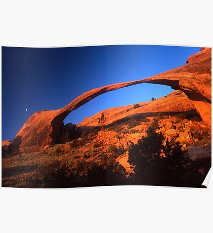 Dawn at Landscape Arch Poster