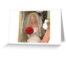 the smiling bride Greeting Card