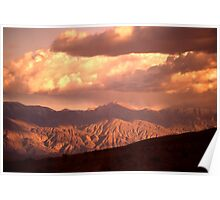 Evening Clouds at Death Valley Poster