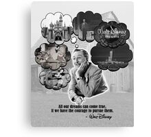 Walt Disney's Dreams Canvas Print