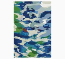 Abstract Army Pattern in Blue Kids Clothes