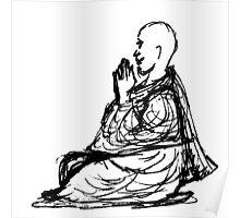 Gratitude Monk During Jizo Meditation... Poster