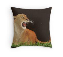 Mountain Lions Rage Throw Pillow