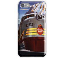 Canada Vintage Railroad Travel Poster Restored iPhone Case/Skin
