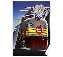 Canada Vintage Railroad Travel Poster Restored Poster