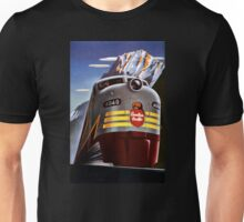Canada Vintage Railroad Travel Poster Restored Unisex T-Shirt