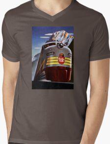 Canada Vintage Railroad Travel Poster Restored Mens V-Neck T-Shirt