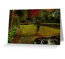 Come, sit with me in Autumn Greeting Card