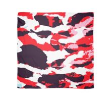 Abstract Army Pattern in Red Scarf