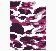 Abstract Army Pattern in Pink One Piece - Short Sleeve
